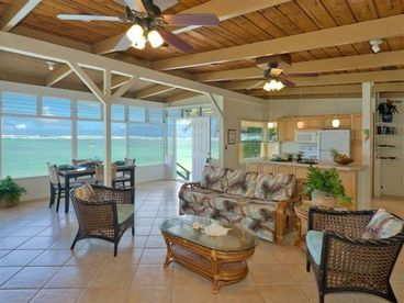 Oceanfront Cottage at Kaaawa