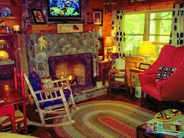 Babbling Brook - Log Cabin on Stream
