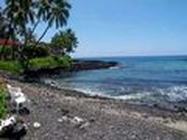 KEAUHOU @ GATED SURF & RACQUET CLUB 3/2  SWEEPING OCEANVIEW  BLACK SAND BEACH