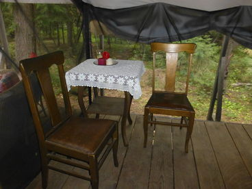 Tent Cabin Rentals at Huckleberry Tent and Breakfast near Sandpoint Idaho