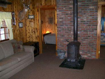 Lakefront 2 BR Log Cabin