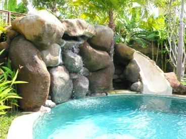 Luxurious Bali Villa Vacation Home Rental � Rumah Santai with Water Slide Pool