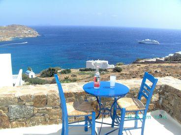 Beachfront villa  Mykonos Island Greece. Sleeps 2-8 people.