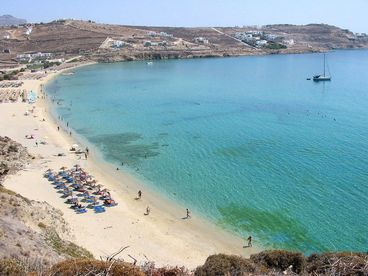 Beachfront villa  Mykonos Island Greece. Sleeps 2-8 people.