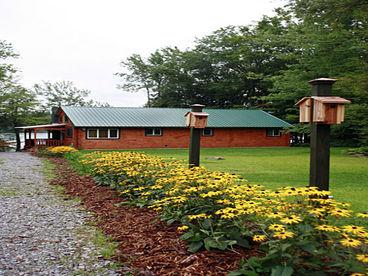Adirondack Lakefront Log Cabin Vacation Rental
