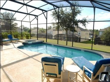 South-Facing Pool Spa GameRoom - 3 Miles to Disney in Emerald Island Resort- 7BR