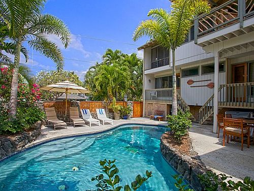 View Kona Beach House with Private Pool