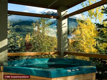Glaciers Reach Resort;  homes with hot tubs across from the liquor store!