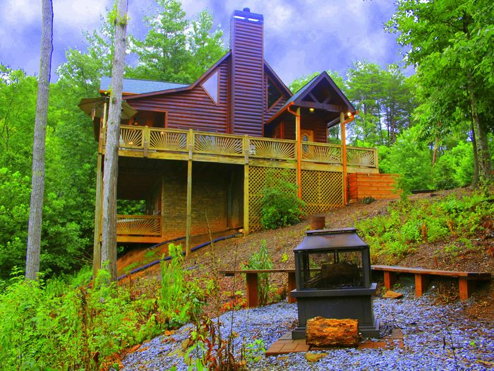 View Sunset Vista Cabin  Upscale with