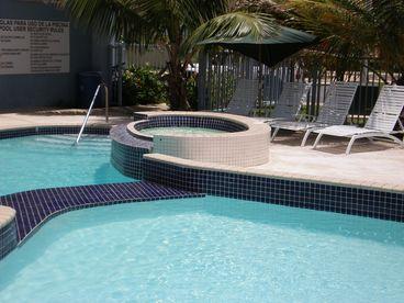 View Sun Sandand Beautiful Blue Water