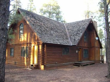 View Log Cabin on National Forest