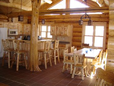 View Handcrafted Log Lodge on the