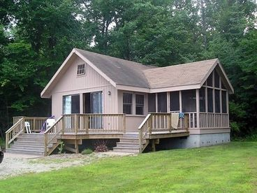 View Cozy Lakefront Cottage with Sandy