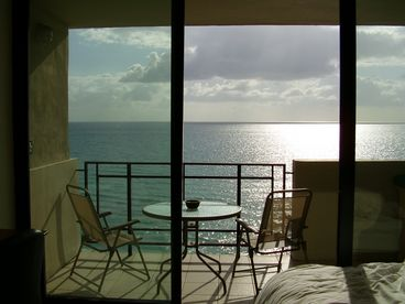 View Beach Getaway with a Balcony