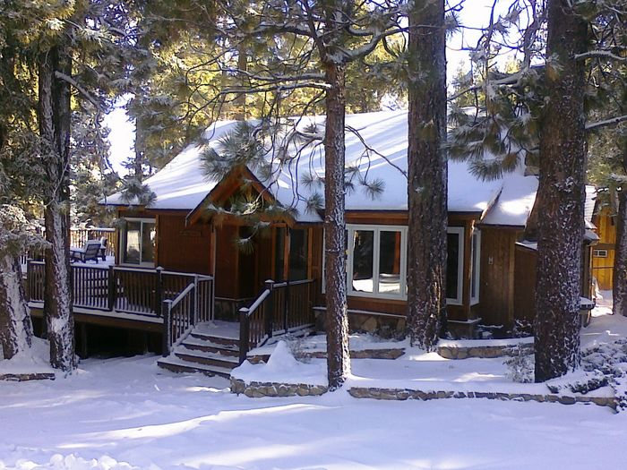 View Charming Knotty Pine Cabin