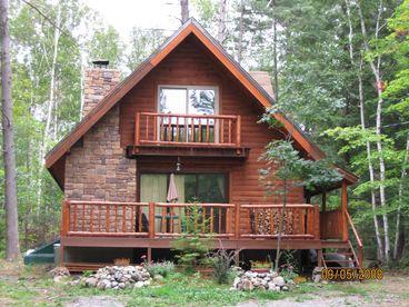 View Adirondack Log Cabin  White