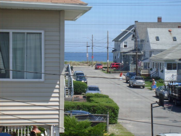 View HULL MA 5 HOUSES FROM BEACH