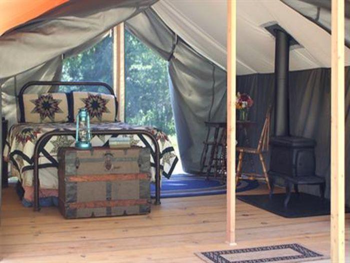 View Tent Cabin Rentals at Huckleberry