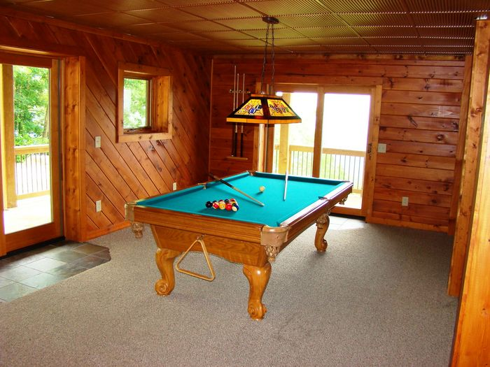 View High Haven Cabin  Pool Table