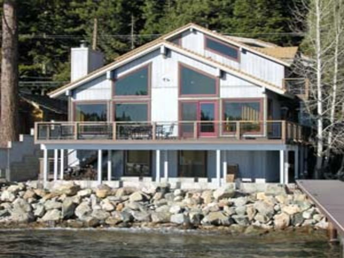 View Waters Edge  Tahoe Lakefront Home