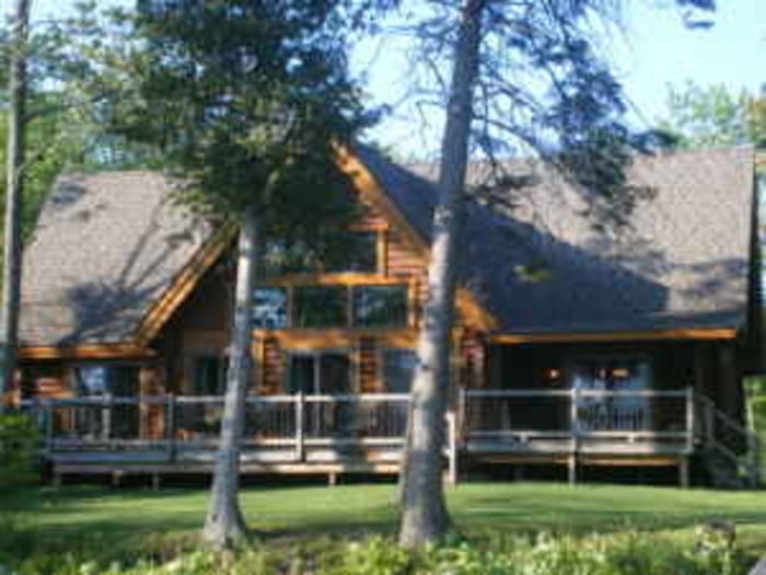 View Lakefront Loghome on Brevort