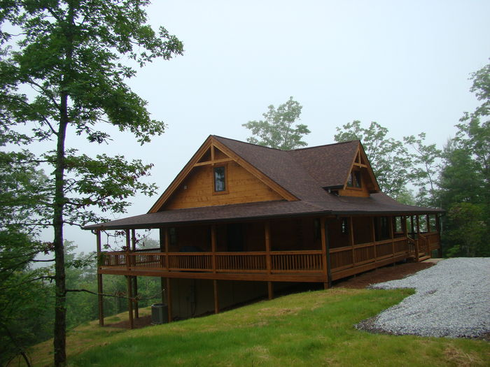 View Owls Roost Cabin  Fireplace on