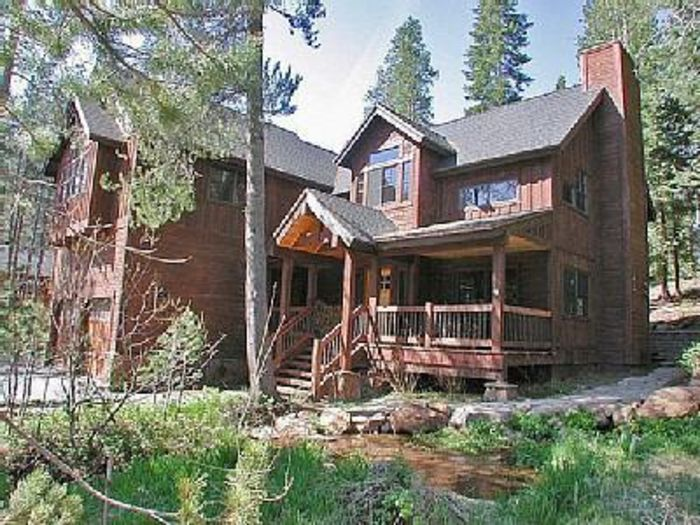View Modern Tahoe Creek House with