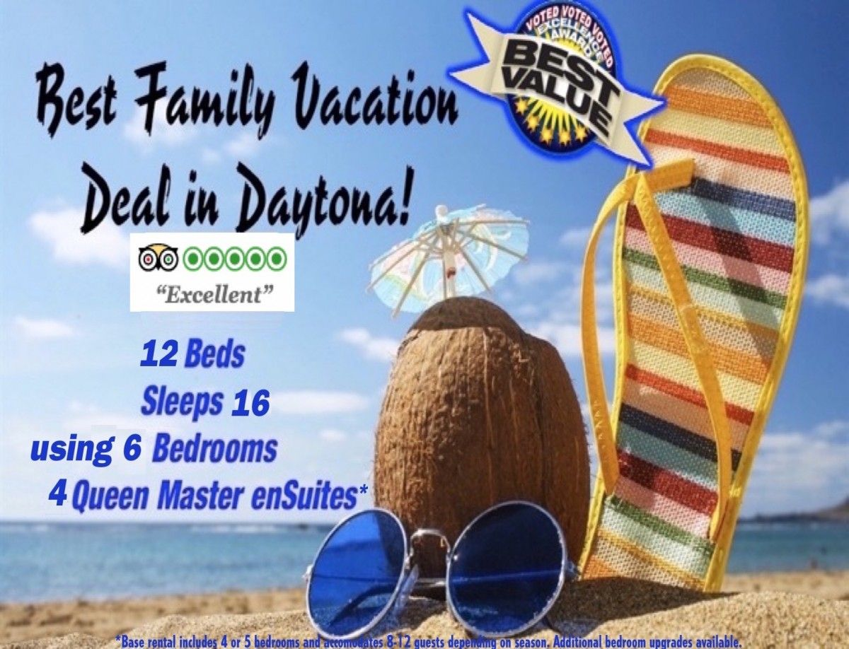 View BEST Daytona Beach FAMILY VACATION