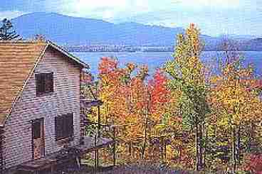 View Luxury Log Cabin Overlooking Moosehead