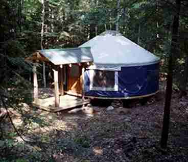 View Falls Brook Yurts